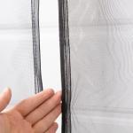 Quality Heavy Duty Magnetic Door Mesh Net Curtain / Fiberglass Insect Screen Patio Door for sale