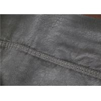 China 0.6 Mm PU Leather Faux Leather , Embossed Synthetic Leather Fabric For Garment on sale