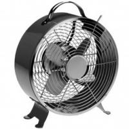 SAA 20cm Black Retro Electric Fan Table Fan 2 Speed Australia Metallic With 4 Blades