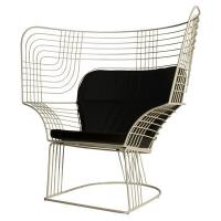 Quality Outdoor Showroom Link Easy Chair Furniture With Varnished Steel Tom Dixon Design for sale
