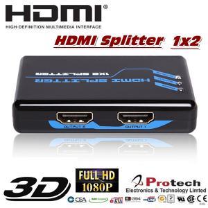 Quality 1x2 port HDMI Splitter 3D 1080P  PET0102 for sale