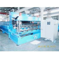 Quality Glazed Roof Tile Roll Forming Machine , Steel roll forming machine for sale