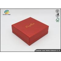 Quality Environmental Red Printing Cardboard Gift Boxes With Hot Stamping Surface Dispoal for sale