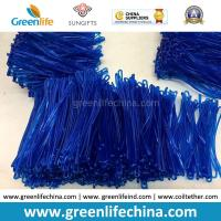Quality Bright Transparent Blue 2.5x150mm Custom Travel Tag Hanging PVC Loops for sale