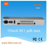 Quality 1+1 fiber back up 8E1 pdh with 4 port gigabit Ethernet fiber optical mulitplexer for sale