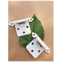 Quality White Powder Coating Butterfly Cabinet Hinges Light Weight Easy Fix for sale