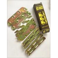 Quality Yellow Zinc Color Screw Hook Hinge , 6 Inch Strap Hinges Customized Size for sale