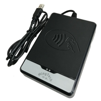 Quality Portable 2 SAM Slots Contactless IC Card Reader With External Indicators LED for sale
