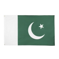 Quality Pakistan Asia Country Flags 90g 3x5ft With Headband Brass Eyelets for sale