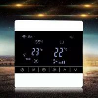 Quality Screen Touch LCD Fan Coil Unit Thermostat Ceiling Mount Energy Saving for sale