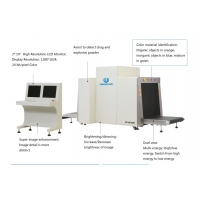 Quality Dual View X Ray Luggage Scanner Screening Machine 300kg Conveyor for sale