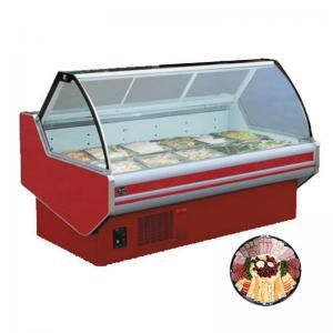 China 60hz R22 Refrigerant 2.5m Fresh Meat Display Chiller For Restaurant on sale