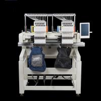 Quality Flat / T Shirt  / Shoes Double Head Embroidery Machine Like Brother Embroidery Machine for sale