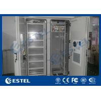 Quality Dustproof Two Compartments Base Station Cabinet Outdoor With Cooling System for sale