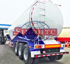 Quality 55 000 Liters Bulk Cement  Tank Semi Trailer Three Axles Leaf Spring Suspension for sale