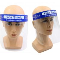 Quality 180 Degree safety Full Face Shield Transparent Color For Virus Protection for sale