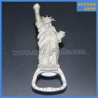 Quality High quality mold free matt silver metal Statue of Liberty New York beer bottle opener for sale