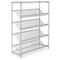 Quality Home  Commercial Wire Shelving 5 Tiers Include Horizontal  Silver Color for sale