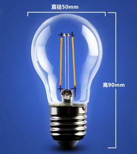 Quality golden base aluminum plastic C35 A60 E27 E14 Edison RGB COG lamp LED Filament Bulb Light for sale