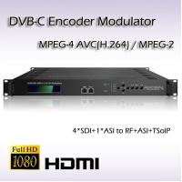 Quality SDI hd Encoder Modulator DVB-C RF Output MPEG-2/H.264 Vidoe Encoding for sale