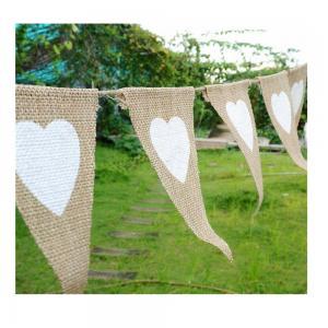 Quality Triangle Natural Jute 17x13cm Decoration Flag Line for sale
