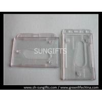 Quality Frosted molded rigid plastic access card dispenser, clear hard card holder for sale