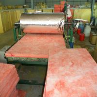 Buy cheap Pink colour Glass wool blanket heat insulation building materials/fiberglass from wholesalers
