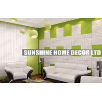 China Waterproof 3D Wall Art Tiles , Bathroom 3D Decorative Wall Ceiling Panel on sale