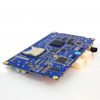 Quality Sample 4 Layer PCB Fabrication and Assembly 1.6mm FR4 Blue Soldermask HASL for sale