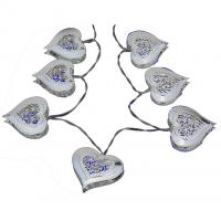 Quality Steel heart battery led string for sale