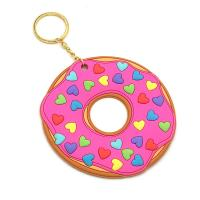 Quality Promotional Custom 3D Relief Soft Touch PVC Rubber Keychains, Non-toxic and Odorless Rubber Keychians for sale