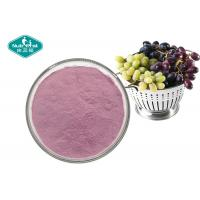 Quality 100% Pure Natural Fruit And Vegetable Powder , Soluble Purple Grape Juice Powder for sale