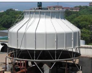Quality Round Shape Industrial Open Loop Water Cooling Tower For Chiller for sale