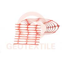 Quality Lightweight Orange Plastic Mesh Barrier Fence Netting , Crowd Control Orange Barrier Fencing for sale