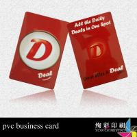 Best Glossy Plastic PVC Eco Friendly Business Cards With Hole For Advertising 0.76mm wholesale