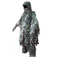 Quality 3D Leaves Camouflage Ghillie Poncho Camo Cape Cloak Stealth Ghillie Suit Military CS Woodland Hunting Poncho for sale