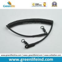 Quality Heavy Duty Rubber Covered Wire Coiled Lanyard for Protecting Pistol for sale