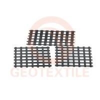 Quality Subgrade Biaxial Integral Geogrid High Strength Black Color 100m Length for sale