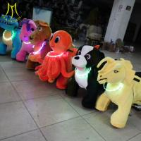 Hansel electric animal scooter rideamusement rides for sale coin operated zippy motorized rides ride on furry animal