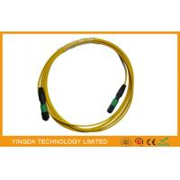 China Single mode 12 Fiber Optic MTP MPO Cable, MPO Patch Cord Truck Cable Jumper on sale