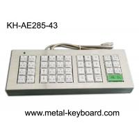 Best Customized 43 Buttons Metal Kiosk Keyboard, Stainless Steel Vandal Resistant Dust Proof wholesale