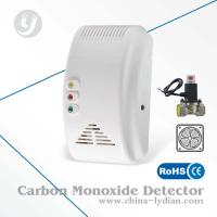 Quality CE Semiconductor Gas Detector Alarm Sound / Flash Alarm With Shut-off Valve, Fan for sale