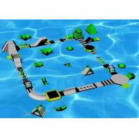 China 0.9mm PVC Floating Water Park , Sports Games Inflatable Amusement Park on sale