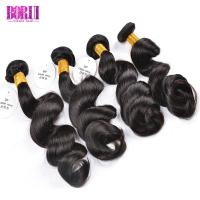 China Raw Virgin Loose Wave Indian Human Hair Extensions With Cuticle Aligend 10A Grade on sale