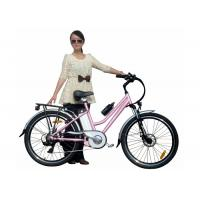 Best Girls Pink Green City E Bike / Bicycle with PAS , 250W brushless hub motor wholesale