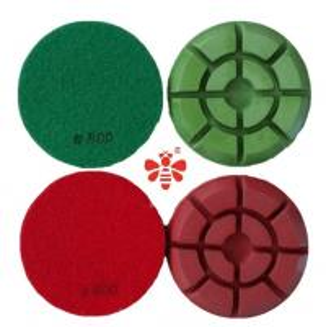 "Lixa Diamantados 4 "" Diamond Pads For Floor Machines Granite Orbital Sander"
