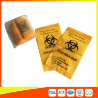 Buy Laboratory Biohazard Specimen Transport Bags Reclosable 3/4 Layer Yellow Color at wholesale prices
