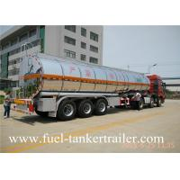 Tri Axles 45tons stainless steel fuel tank trailer oil transportation truck