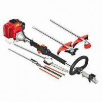 China 33cc Brush Cutter/Multifunction Tool with Chain Saw, Hedge Trimmer, Nylon and Metal Blade on sale