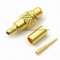 Quality MMCX Straight Plug RF Coaxial Connector for Telecommunication for sale